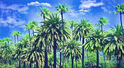 Mixed Media - Beverly Hills Palms by Alicia Hollinger