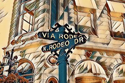 Beverly Hills Digital Art - Beverly Hills Rodeo Dr by Victor Arriaga