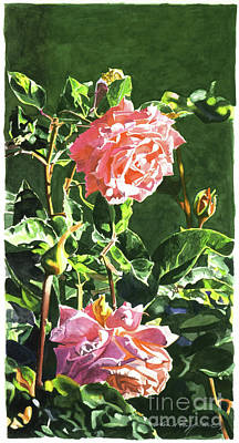 Pink Painting - Beverly Hills Rose by David Lloyd Glover