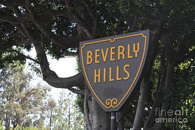 Photograph - Beverly Hills Sign by Danielle Groenen