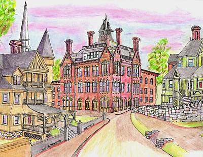 Beverly Odd Fellows Hall Art Print by Paul Meinerth