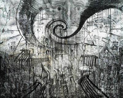 Art Print featuring the digital art Beware Of Darkness by Rhonda Strickland