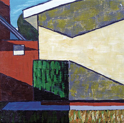 Richard Diebenkorn Painting - Beware Of Dog Abstract by Michael Ward