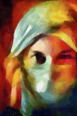 Digital Art - Beware The Woman Who Appears Too Sweet Abstract Realism by Georgiana Romanovna