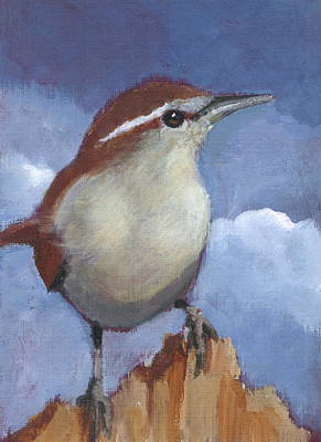 Bewicks Wren In Acrylic Art Print by Joyce Geleynse