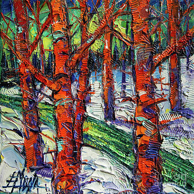 Painting - Bewitched Forest by Mona Edulesco