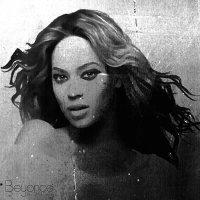 Beyonce Bw By Gbs Art Print