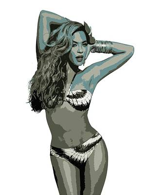 Digital Art - Beyonce Cutout Art by David Dehner
