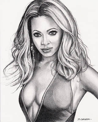 Drawing - Beyonce by Daniel Carvalho