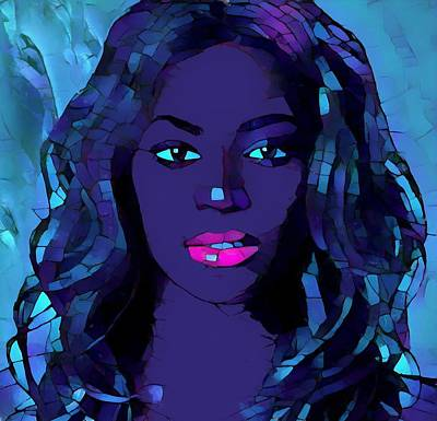 Beyonce Knowles Painting - Beyonce Graphic Abstract by Dan Sproul