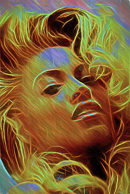 Digital Art - Beyonce by John Haldane