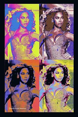 Digital Art - Beyonce Pop Art by Michael Chatman