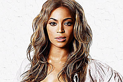 Gig Painting - Beyonce by Iguanna Espinosa