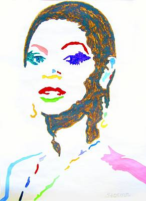 Portraits Painting - Beyonce by Stormm Bradshaw