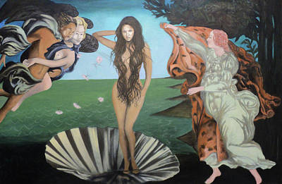 Painting - Beyonce - The Birth Of Venus by Angelo Thomas
