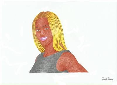 Hop Drawing - Beyonce  by Toni Jaso