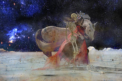 Human Skeleton Digital Art - Beyond by Betsy Knapp