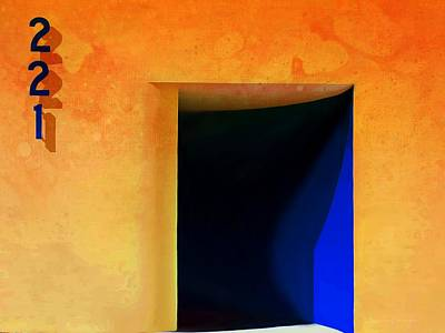 Las Cruces New Mexico Digital Art - Beyond Blue 221 by Barbara Chichester