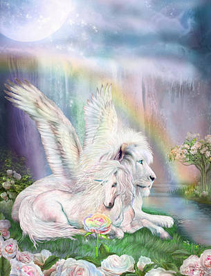 Unicorn Mixed Media - Beyond Fantasy by Carol Cavalaris
