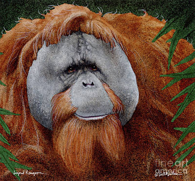 Orangutan Painting - Beyond Rangoon... by Will Bullas