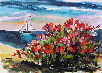 John Williams Drawing - Beyond Sea Roses by John Williams