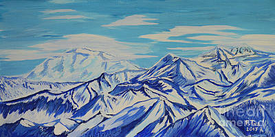 Painting - Beyond - Swiss Alps Vista by Felicia Tica