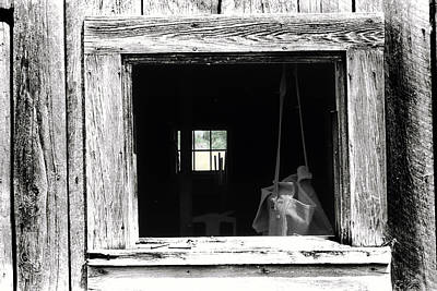 Photograph - Beyond The Barn Window by Steven Dunn