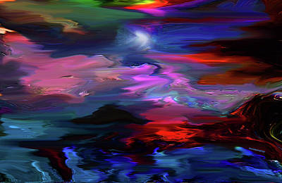 Digital Art - Beyond The Blue Horizon by Sherri's Of Palm Springs