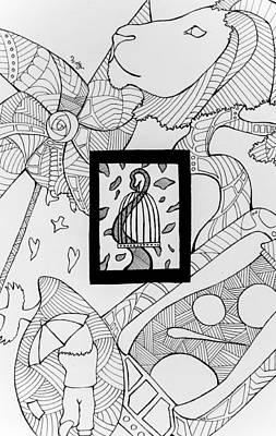 Pin Wheels Drawing - Beyond The Boarders by Wattie Wildcat