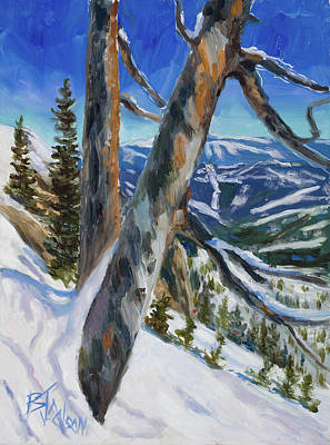 Colorado Ski Art Wall Art - Painting - Beyond The Boundry Line by Billie Colson