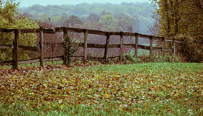 Photograph - Beyond the Fence, Misty Hills by Judith Picciotto