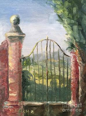 Painting - Beyond The Gate by Kathy Lynn Goldbach