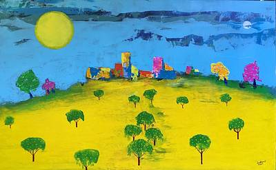 Painting - Beyond The Lemon Grove by Lew Hagood