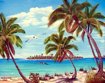 Beyond The Palms Art Print by Riley Geddings
