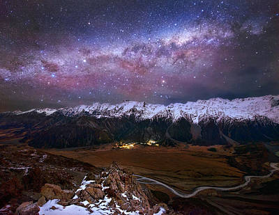 Alps Photograph - Beyond The Plains: Touching The Sky by Yan Zhang