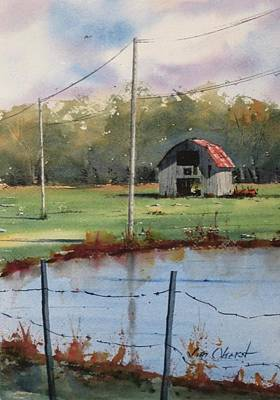 Oberst Painting - Beyond The Pond by Jim Oberst