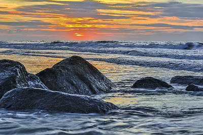 Photograph - Beyond The Rocks - Charleston Coast Sc by Donnie Whitaker