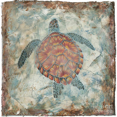 Green Sea Turtle Painting - Beyond The Sea II by Danielle Perry