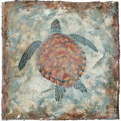 Ocean Turtle Painting - Beyond The Sea II by Danielle Perry
