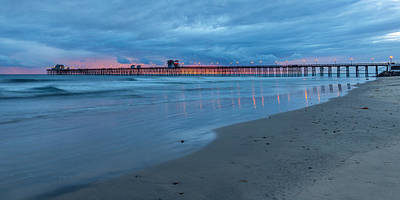 Oceanside Pier Photograph - Beyond The Storm by Peter Tellone