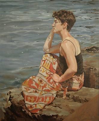 'beyond Waters' Deep' Art Print by Christine Miller