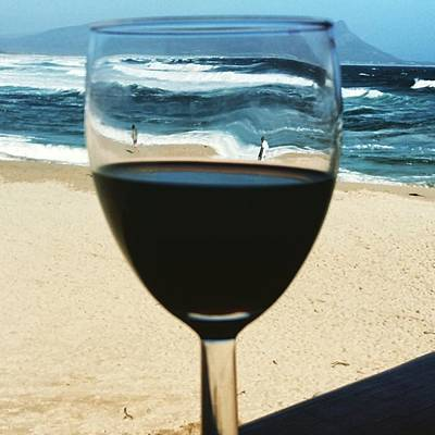 Photograph - #beyondtheglass #kleinmond #beach 😆 by Jaynie Lea