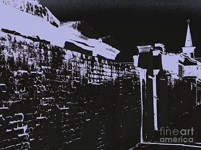 Fears Psychic Photograph - Beyond The Cemetery Wall by JoNeL Art