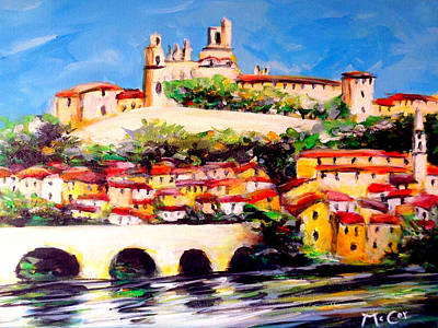 Beziers Reflections Art Print