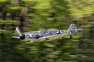 Photograph - Bf 109-g4 In Flight by Liza Eckardt