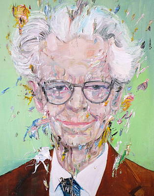 Painting - B.f. Skinner - Oil Portrait by Fabrizio Cassetta
