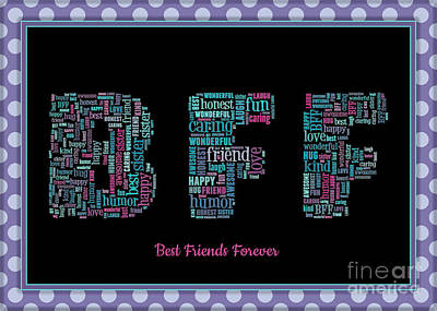 Digital Art - Bff Collage by JH Designs