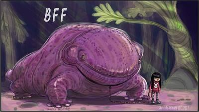 Salamanders Digital Art - Bff Evening Walk by Travis Blaise
