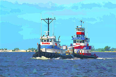 Photograph -  Bff Tug Boats by Susan Molnar