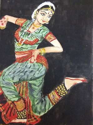 Tamilnadu Painting - Bharat Natyam by Jayasree Anand